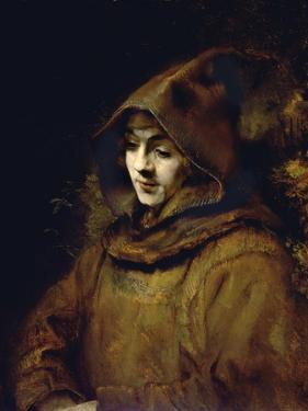 Portrait of His Son Titus, Dressed as a Monk by Rembrandt van Rijn