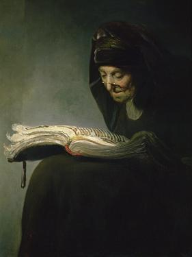 Portrait of Rembrandt's Mother by Rembrandt van Rijn