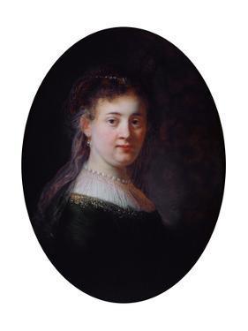 Portrait of Saskia Van Uylenburgh, 1633 by Rembrandt van Rijn