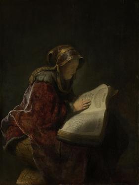 Prophetess Hannah by Rembrandt van Rijn