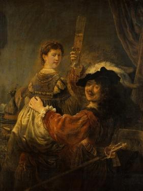 Rembrandt and Saskia in the Parable of the Prodigal Son, C. 1635 by Rembrandt van Rijn