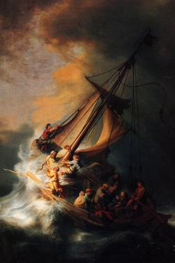 Rembrandt Christ in the Storm on the Lake Genezareth by Rembrandt van Rijn