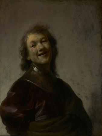 Rembrandt Laughing, C. 1628 by Rembrandt van Rijn