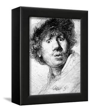 Self Portrait, 1630 (Etching) by Rembrandt van Rijn