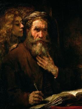 St. Matthew and the Angel, 1655-60 by Rembrandt van Rijn