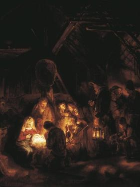 The Adoration of the Shepherds by Rembrandt van Rijn