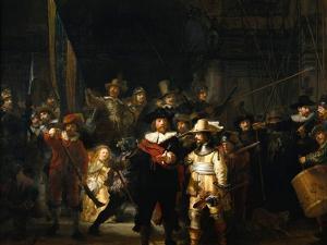 The Night Watch, 1642 by Rembrandt van Rijn