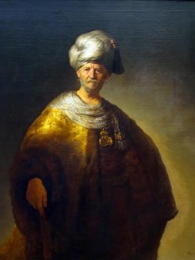 The Noble Slav, Man in an Oriental Costume by Rembrandt van Rijn