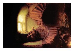 The Philosopher by Rembrandt van Rijn