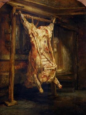 The Slaughtered Ox, 1655 by Rembrandt van Rijn