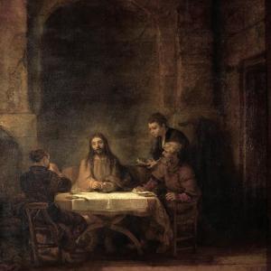 The Supper at Emmaus by Rembrandt van Rijn