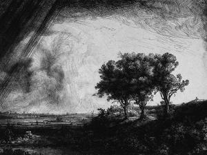 'The Three Trees', 1643 by Rembrandt van Rijn