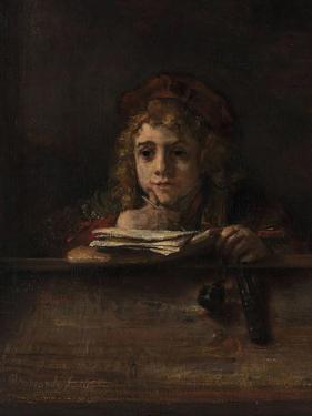 Titus at His Desk, 1655 by Rembrandt van Rijn