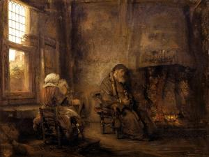 Tobit and Anna Waiting for the Return of their Son, 1659 by Rembrandt van Rijn