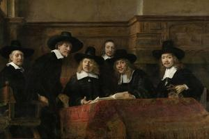Wardens of the Amsterdam Drapers Guild by Rembrandt van Rijn