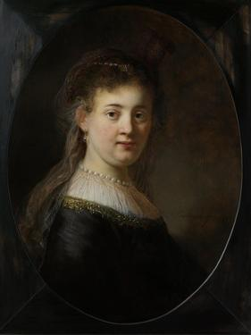 Young Woman in Fantasy Costume by Rembrandt van Rijn