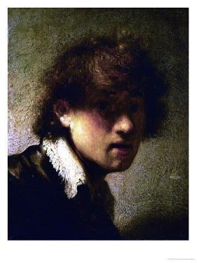 Youthful Self-Portrait by Rembrandt van Rijn