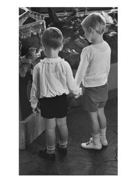 Vogue - November 1934 - Little Boys Holding Hands by Remie Lohse