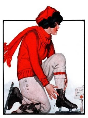 """Lacing Her Skates,""January 10, 1925"