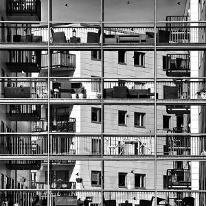 Urban City View, Urban Construction, Architecture Details and Fragment in Black and White, Architec by Renata Apanaviciene