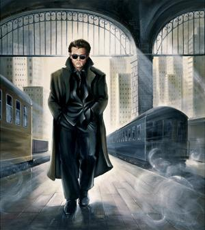 James Dean Parting Train by Renate Holzner