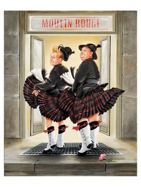 Laurel & Hardy Flying Skirts by Renate Holzner