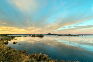 Sunrise on Myvatn Lake North Iceland Europe by Renato Granieri