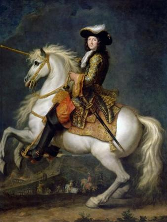 Equestrian Portrait of Louis XIV (1638-171) by René-Antoine Houasse