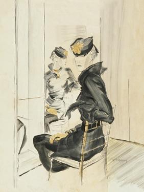 Vogue - August 1934 by René Bouét-Willaumez