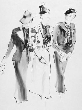 Vogue - February 1936 by René Bouét-Willaumez