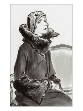 Vogue - January 1930 by René Bouét-Willaumez