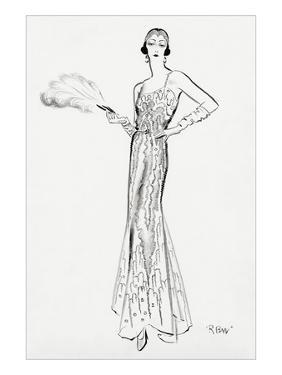 Vogue - September 1930 by René Bouét-Willaumez