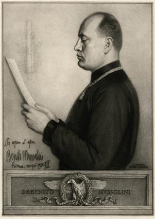 Mussolini by Rene Godard