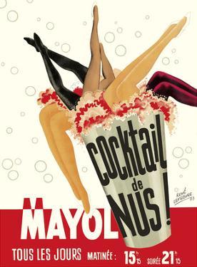 Cocktail de Nus! (Cocktail of Nudes!) - Concert Mayol Cabaret - Paris, France by René Lefebvre