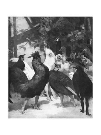 Third Act of the Play Chantecler by Rostand, 1910