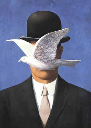 L'homme au chapeau melon (No Border) by Rene Magritte