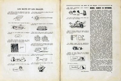 Les Mots et les Images by Rene Magritte