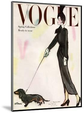 Vogue Cover - March 1947 by René R. Bouché