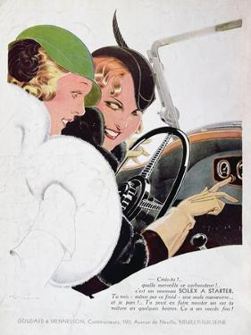 Advertisement for Solex Carburettors, from 'Vogue' Magazine, January, 1932 by René Vincent