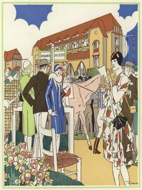 At the Horse Show and Races of Le Touquet by René Vincent