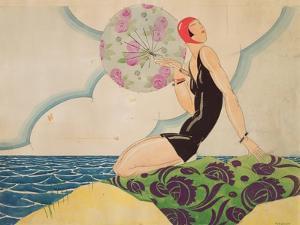 Bather, c.1925 by René Vincent