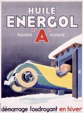 Huile Energol by René Vincent