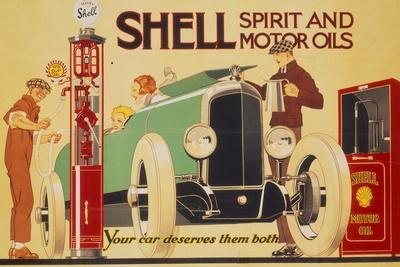 Poster Advertising Shell Spirit and Motor Oils