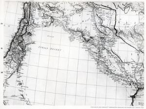 Rennell's Map of the Syrian Desert, Dated 1809, Published 1831