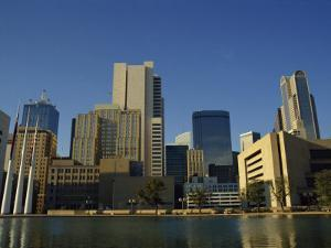 River and City Skyline of Dallas, Texas, United States of America, North America by Rennie Christopher