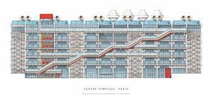 Centre Georges Pompidou, Paris by Renzo Piano