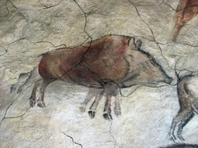 Replica of Cave Painting of Boar from Altamira Cave
