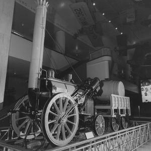 Replica of Stephenson's 1829 Rocket Steam Locomotive