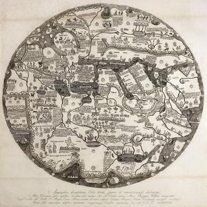 Reproduction of the Circular Ecumene, also known as Mappa Mundi Borgia or Tavola Di Velletri