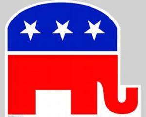 Republican Elephant Lifesize Cardboard Cutout
